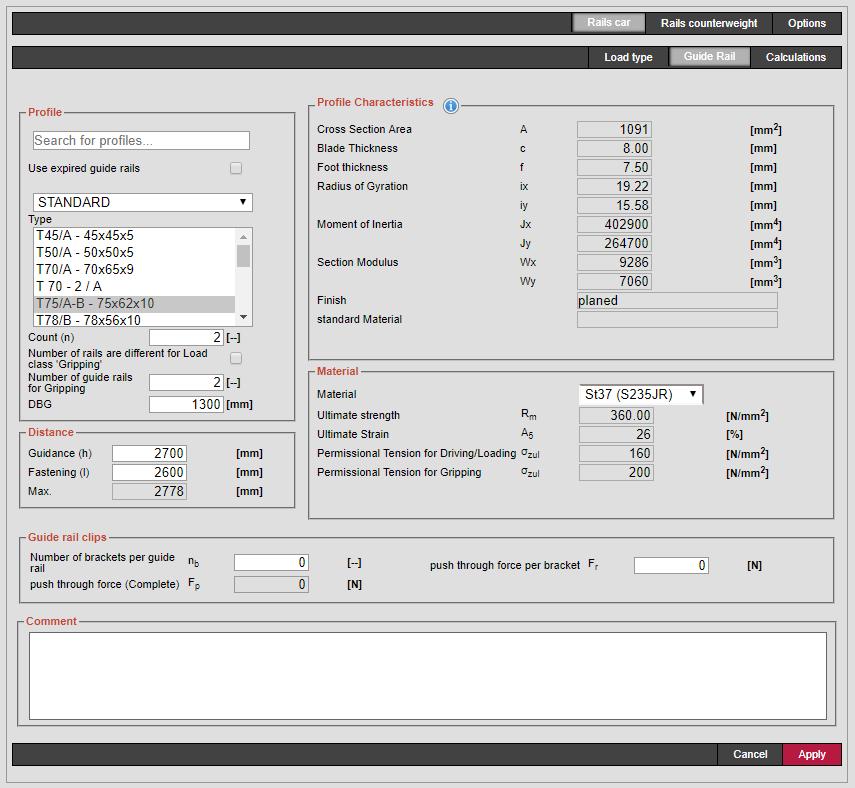 Guide Rail Profile