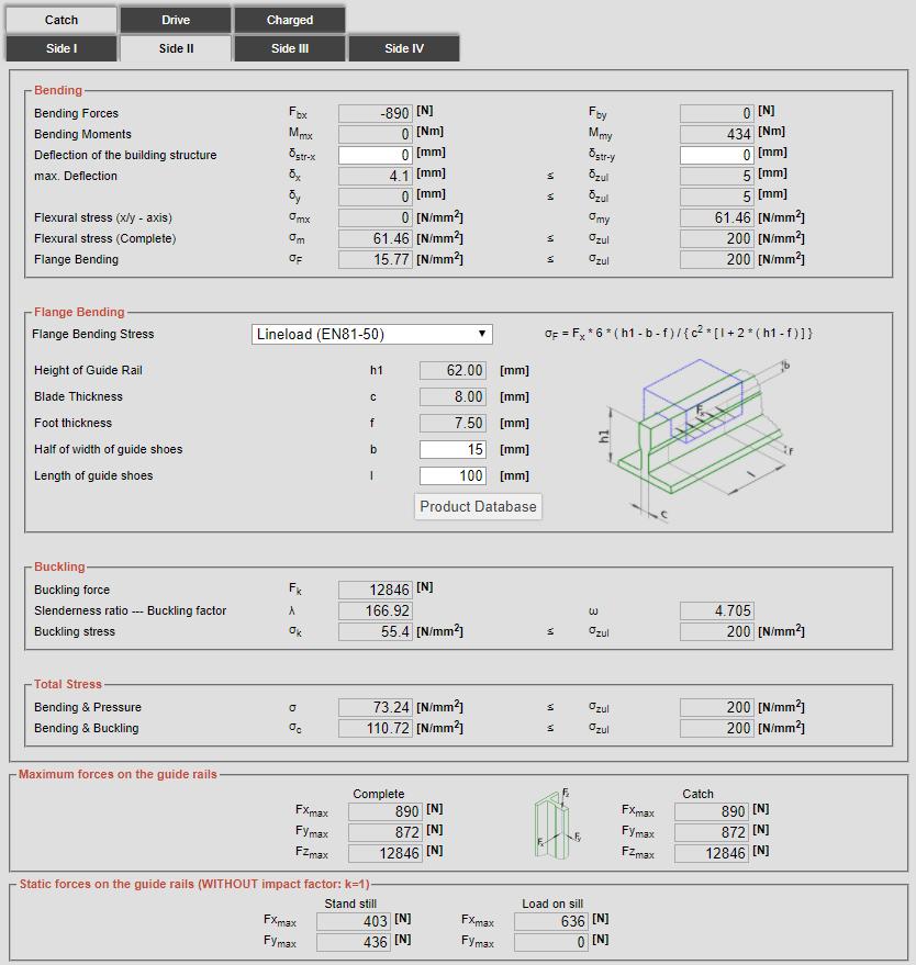 Guide Rails Calculation