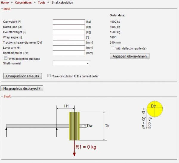 Shaft calculation LIWETEC GmbH