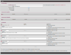 Interfaces for order submission